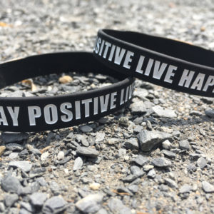 Stay Positive Live Happy Wristband